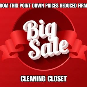 Other - Big sale cleaning closet prices are FIRM